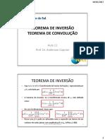 Aula 11 - Teorema de Inversão-Teorema de Convolução