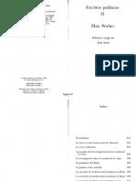 Weber - Escritos Politicos - La Futura forma Institucional de Alemania