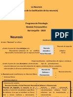 CLASIFICACION DE LA NEUROSIS