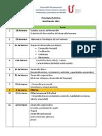 dosificación Didáctica - 2021 PSICOLOGIA  EVOLUTIVA (1)