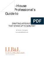 The In-House Legal Professional's Guide to Drafting Affidavits That Stand Up To Scrutiny