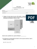 3 Prova Mat. - Acelera Brasil - 2017