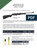 CACs - Carta Lançamento Rifle e Cartucho 17HMR - ok