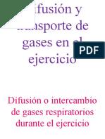 Difusion y Transporte de Gases en El Ejercicio