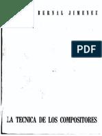 La tecnica de los compositores- Miguel Bernal J.