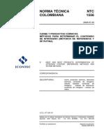 Ntc1556 Contenido de Nitrogeno (Metodo de Referencia y de Rutina)