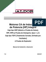 Motores de CA de inducción de potencia HP integral Baldor