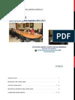 Informe de Gestión 2012-2013 Aquiles Ledesma