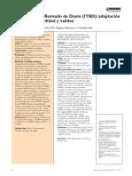 Inventario Texas revisado de duelo (ITRD) (2005)