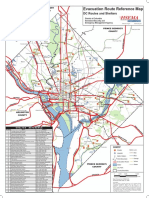 D.C.-Area Evacuation Route Reference Map