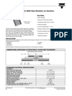 Resistor manufactores Data sheet