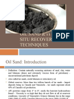 Oil Sand In-Situ Recovery Techniques