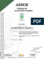 VOLCAN Certificaciones Iso 50001