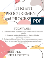 Nutrient Procurement and Processing
