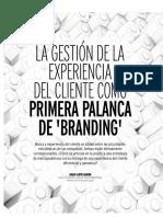 Gestión experiencia cliente como palanca branding