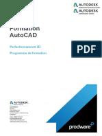Programme Formation.autoCAD.perfectionnement 3D.3j