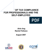 The Cost of Tax Compliance for Professionals and the Self-employed