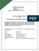 G&V Colliery Draft Basic Assessment