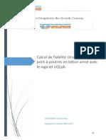 reflexion strategique_Calcul de fiabilité structurale_ponts à poutres en BA_UQLab