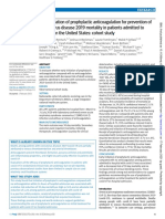 EARLY INITIATION OF PROPHYLACTIC ANTICOAGULATION FOR PREVENTION OF CORONAVIRUS DISEASE 2019 MORTALITY IN PACTIENTS ADMINITTED TO HOSPITAL