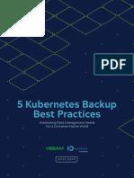Kasten Five Kubernetes Backup Best Practices