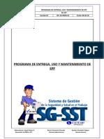SST-16-PROG-01 Programa de entrega, uso y mantenimiento de epp