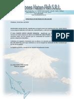 CONSTANCIA DE NECESIDAD DE CIRCULACION HATUN
