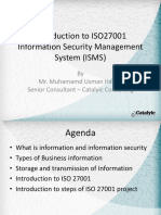 ISO27001 - introduction
