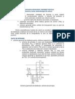 Dimensionarea elementelor instalatiei electrice