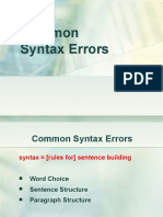4dd97SE 10- Common syntax errors