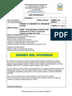 Formato Guia Pedagógica bilogia 6 grado EL UNIVERSO