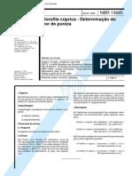 NBR 13685 - Clorofila cuprica - Determinacao do teor de pureza