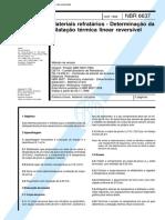 NBR 06637 - Materiais refratarios - Determinacao da dilatacao