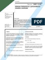 NBR 10140 Pb 1267 - Sistemas Hidraulicos E Pneumaticos - Pressoes Nominais