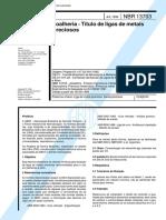NBR 13703 - Joalheria - Titulo de ligas de metais preciosos