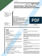 NBR 13383 - Materiais texteis - Determinacao da espessura de tecidos planos e de malhas