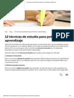 12 técnicas de estudio para potenciar tu aprendizaje _ Instituto Idat