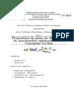 Proposition de plans de distribution de marchandise optimaux cas de l'entreprise Cevital