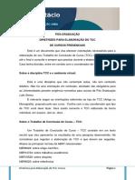DIRETRIZES TCC CURSOS PRESENCIAIS