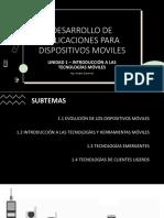 Desarrollo de aplicaciones móviles Unidad 1