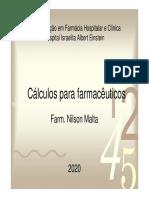 CÁLCULOS PARA FARMACÊUTICOS