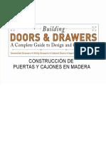 Un Manual Con Planos Para Construir Puertas y Cajones en Madera