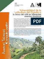 Vulnerabilidad de la caficultura del Quindío a la broca del café en diferentes eventos climáticos