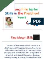 Developing Fine Motor T3