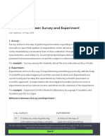 Difference between Survey and Experiment - GeeksforGeeks