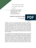CUARTO SEMESTRE - ESAP -ENSAYO CRISIS EN LA CLASE POLITICA COLOMBIANA