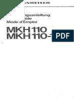 Sennheiser MKH-110 User Manual