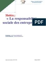 La Responsabilité Sociale Des Entreprises TAF