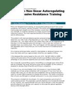 Canadian Non-linear Autoregulating Training [Thibaudeau]
