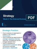 Lecture 2 Strategic Position Environment
